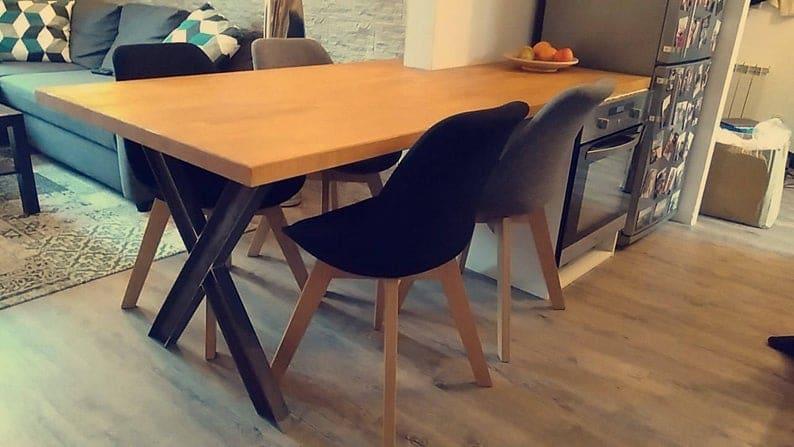 Набор 2, X ноги, Industrial, черный цвет, современный, DIY, ИКСИ 120x60 I-BEAM Ножки, обеденный стол ноги, письменный стол ноги,