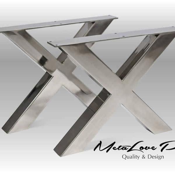 Набор из 2, X формы, нержавеющая сталь, поделок, Современный дизайн, ИКСИ 60.60 Ножки, Пользовательский размер доступной