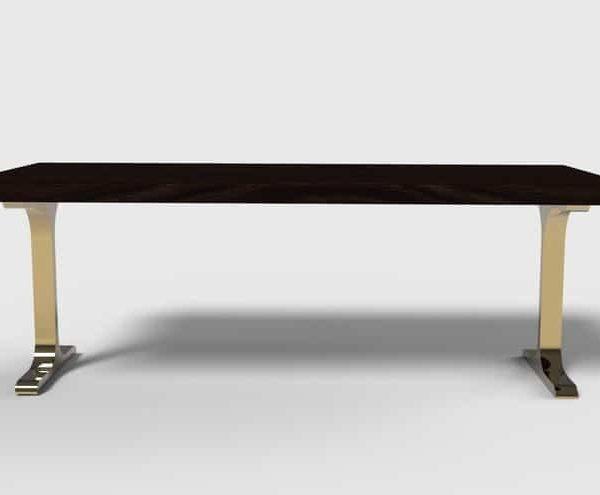 Набор из 2, 28 & # 39; & # 39;Золотая Основа Обеденного стола для Живого Обеденного Стола Края