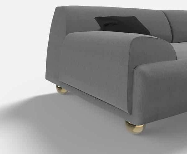 Набор из 4, ножки дивана, латунные ножки дивана, золотые ножки дивана, ножки шкафа, ножки кровати, круглые ножки дивана, металлические ножки стола от Ivadecorstudio
