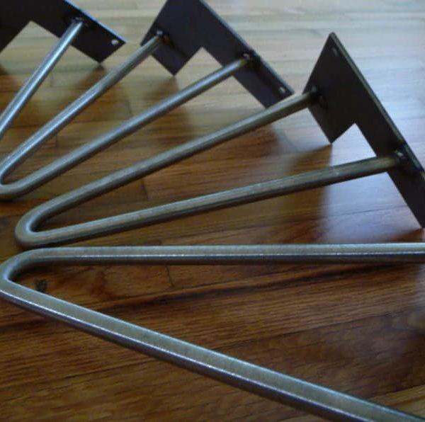 Набор из четыре шпильки ножки стола, под небольшим углом (выравнивание) Современной мебель металлической ножки. размеры 8 & Quot -20 & Quot