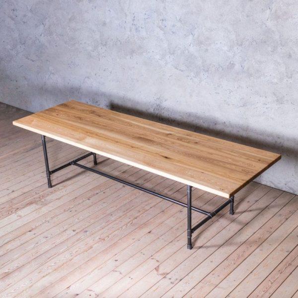 Ноги Северн Ash Металл труб Промышленные Стиль Обеденный стол
