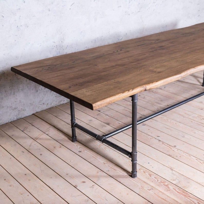 Ноги Северн Дуб Металл труб Промышленный стиль Обеденный стол