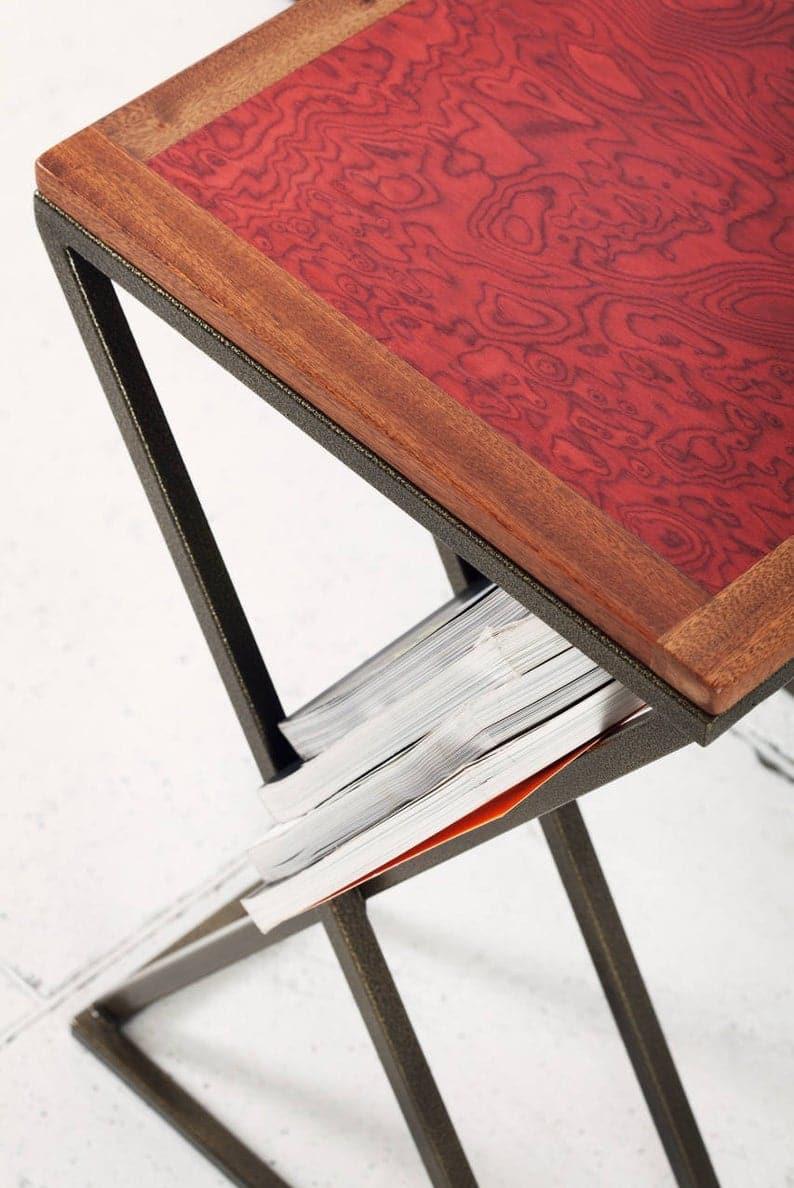Столик для ноутбука столик, деревянный столик, Rosewood сторона шпона стол, современный компьютерный стол, деревянный стол ноутбук, Rosewood тумбочка