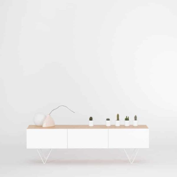 Сервант, белый телевизор стенд, консоль стол, минимализм, в середине века современный