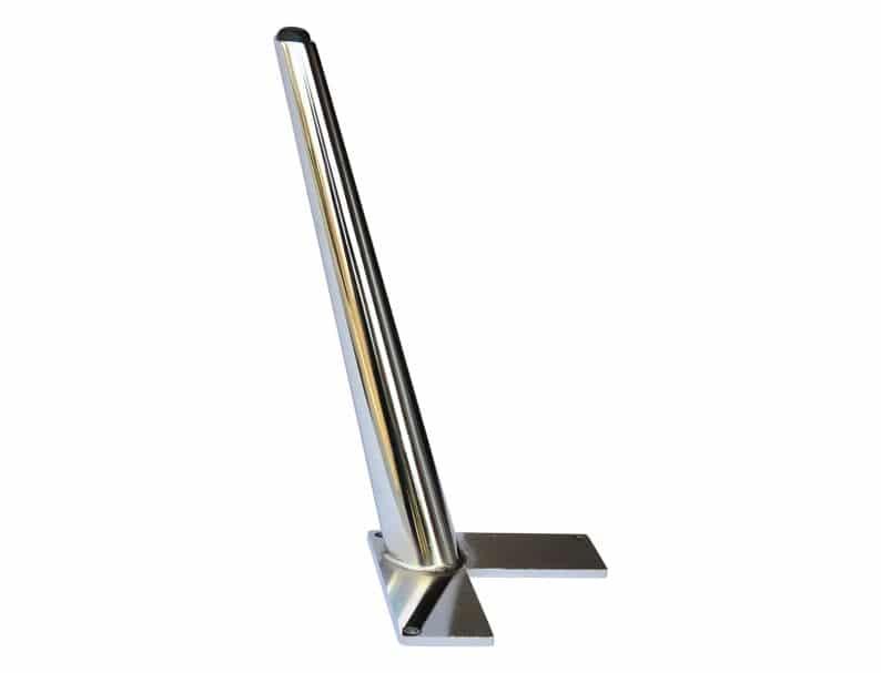 Наклонный хром Мебель Нога сверхпрочной Металлической мебель Нога, Tapered10 1/2 & Quot H 4pc