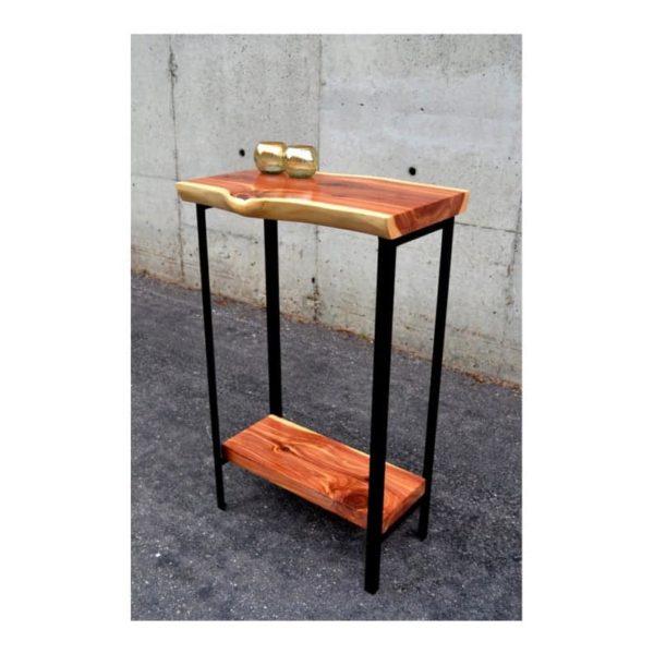 Малый Живой Край Красный Кедр консоли или Стол с Прихожая металлическими ножками