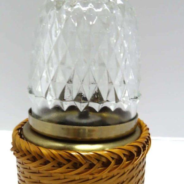 Небольшая плетеная основа из прозрачного стекла Ураганная масляная лампа Лампы для освещения дома и сада Настольные лампы Ураганы
