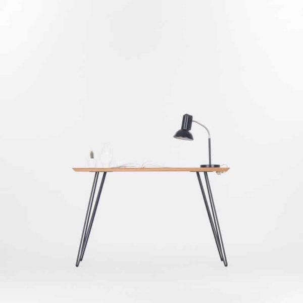 Сплошной деревянный стол, современный стол с металлическими ножками - шпилька цвета американского ореха / закончить Быструю доставку