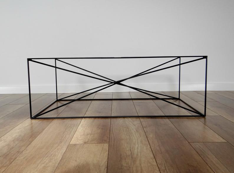 SPIDER Сталь Журнальный столик 100x60см.Большой современный журнальный столик ноги.Black Metal Журнальный столик Ноги.Индустриальный от StaloveStudio