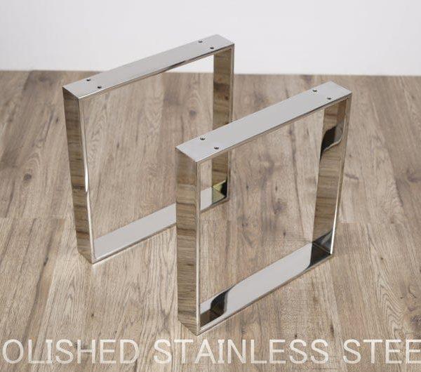 Подстолье для стола из нержавейки хромированное YX02