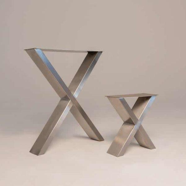 Таблица нержавеющей стали нога, X Каркасные ножки стола, Промышленные ножки, Dining, Рабочий стол, скамейка Legs (набор из 2) - The Leg знак железнодорожного переезда