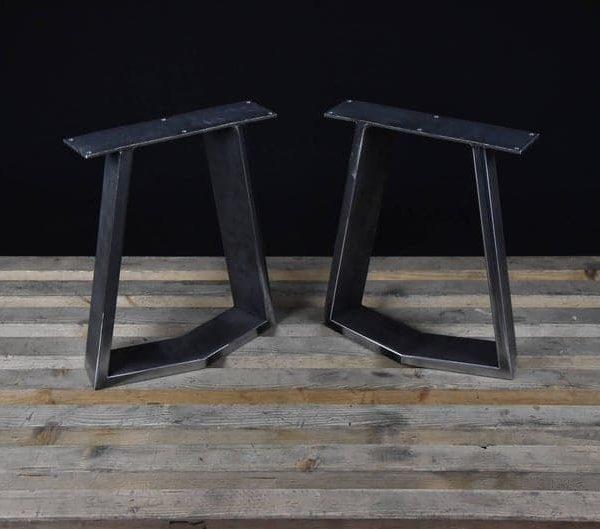 Стальные ножки скамьи, ножки журнального столика, металлические ножки, квадратное основание скамьи, основание журнального столика, КОМПЛЕКТ (2)