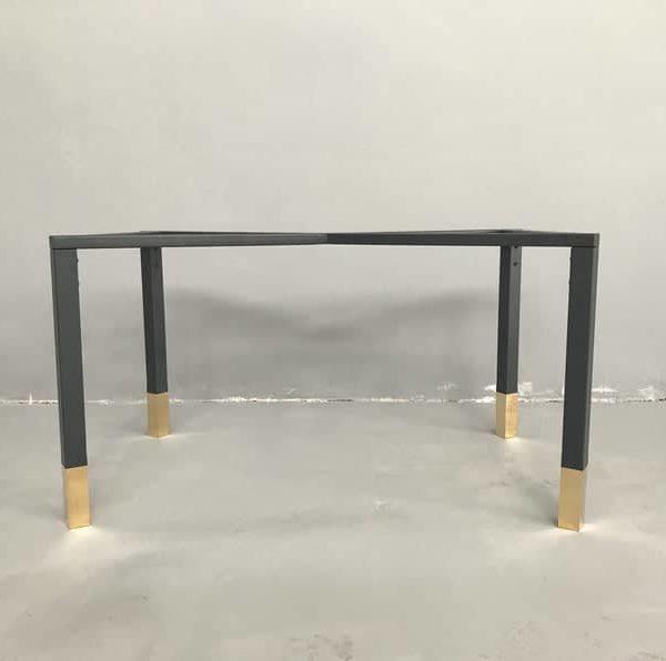 """Стальные латунные ножки для обеденного стола, 28 """"В x 24"""", Ш x 52 × L, стол для столешницы из золота, высота 26 """";До 32 """""""