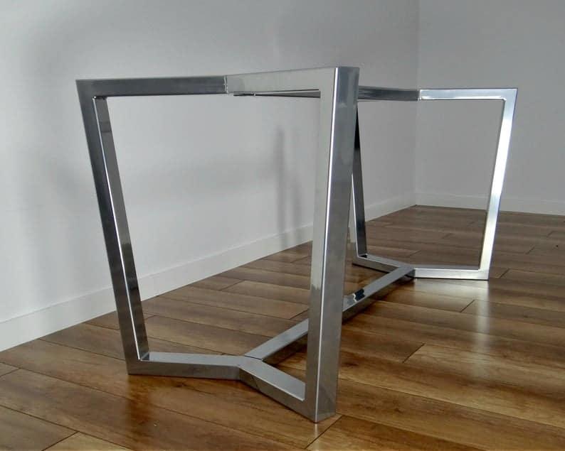 Стальная рама обеденного стола AURA, металлические ножки стола, стальные ножки стола, железные ножки стола, промышленная мебель