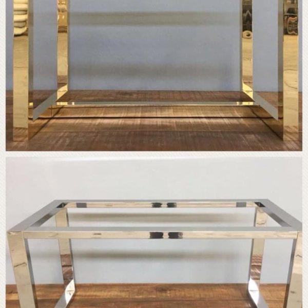 Подстолье из металлических труб для обеденного стола WE04