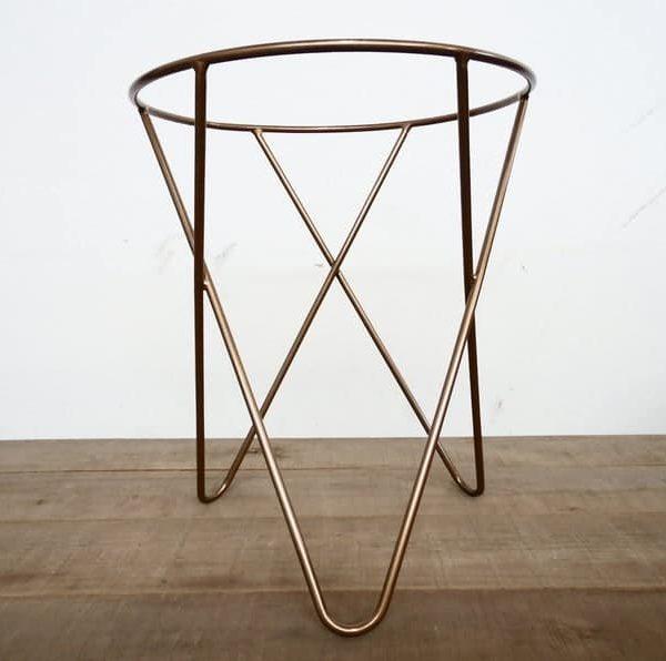 Подстолье для круглого стола из нержавеющей стали с покрытием под золото пк339
