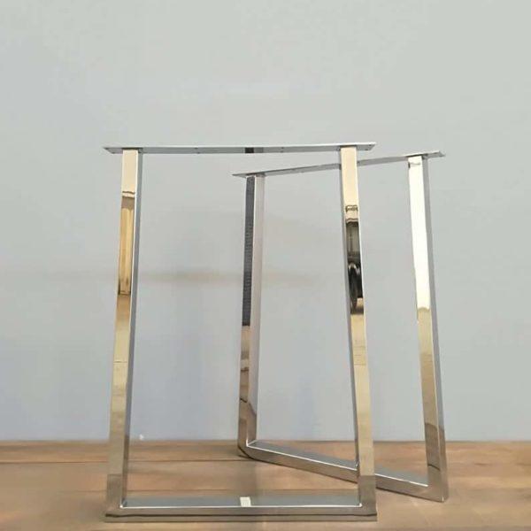"""Стальные конические ножки стола Металл, 28 & quot;Ножки стола Trapezoid-IN, ширина основания 24 """"Высота 26 & quot;- 32 & quot;SET (2)"""