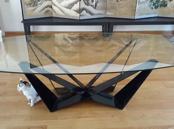 Стол, основание стола, металлическое основание. Handmade, мебель, основание обеденного стола, современное основание стола, металлическое основание стола, ножки обеденного стола ZIZUU