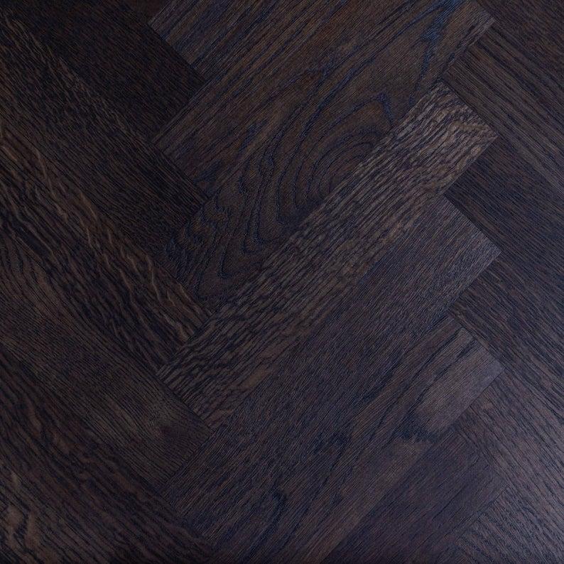 Башня H Темно-серый Дуб Промышленный Обеденный стол Деревянный Сельский исправленная Урожай
