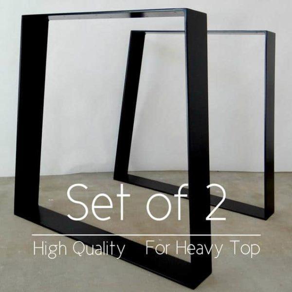 Металлические ножки трапециевидного обеденного стола с порошковым покрытием (КОМПЛЕКТ 2), высота 28 & # 39; & # 39;или 71 см.Стальные ножки стола для исправленной древесины.Железные ножки стола