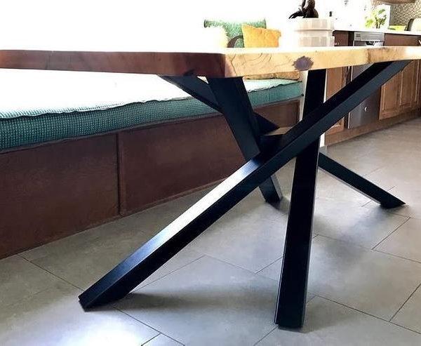 Уникальная подставка для стола, стол, ручная работа, мебель, подставка для обеденного стола, современная подставка для стола, металлическая подставка для стола, ножки для обеденного стола NEXUS 80.60