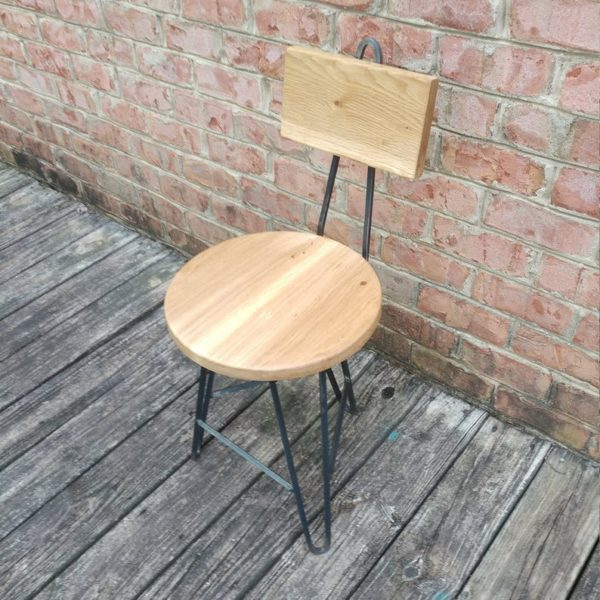 Белый Дуб Шпилька кресло с Назад Поддержка - Пчелиный Coated Base