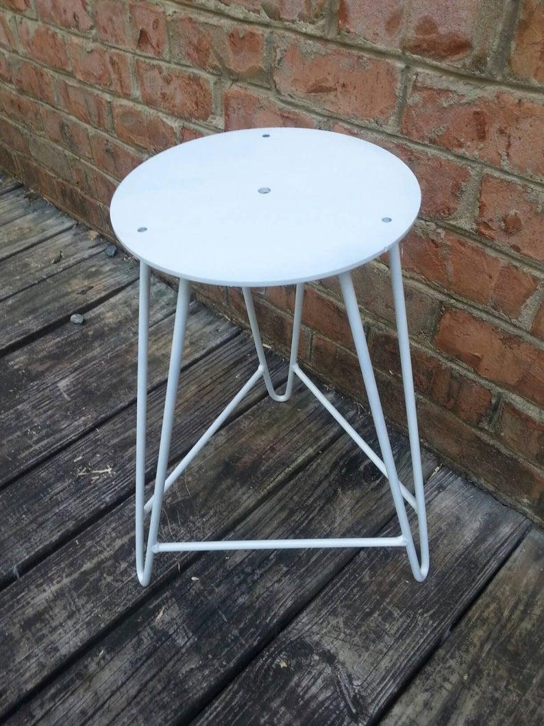 Белая сталь Шпилька Барный стул корпус- DIY - Пользовательские Высоты Доступные