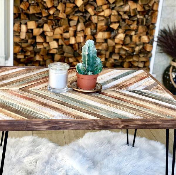 Вуд журнальный стол, Приставной стол, Rustic журнальный стол, Металлические ножки, диван стол, Сельский и стол, исправленная Wood Table, Farm Таблица