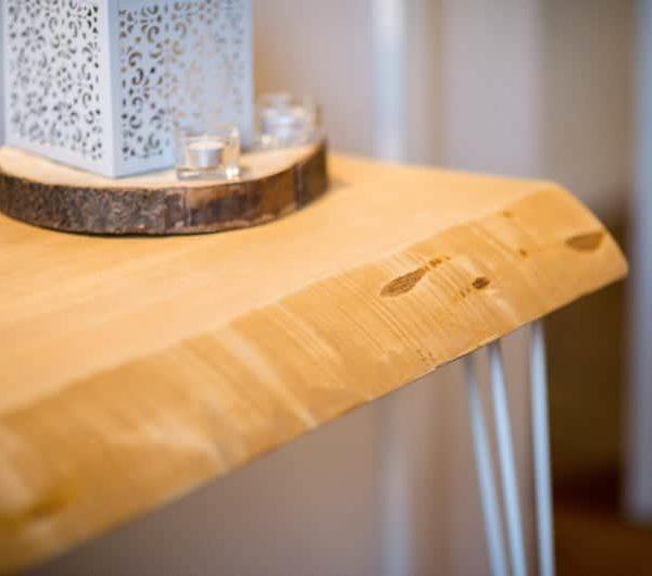 Деревянный стол, компьютерный стол, стол для ноутбука, компьютерный стол, офисный стол с Metal шпилька Legs - ручная работа в Италии
