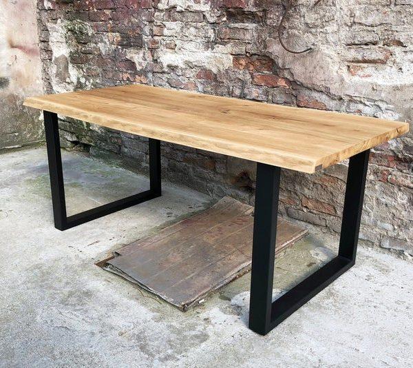 Деревянный стол, ashLive край, деревянный стол, промышленный стол, промышленный золу стол, салон, Dinnig стол, Аш Обеденный стол, металлические ножки,