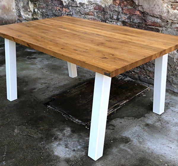 Деревянный стол & Quot Luna & Quot | Дубовый стол | Обеденный стол Гостиная | Конференция Simple | Металлические ножки | Офис | стальные опоры | обеденный стол