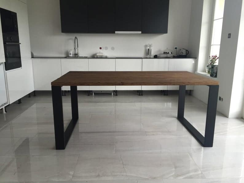 Деревянный стол & Quot Старый & Quot | Дубовый стол | Дубовый стол | Обеденный стол | Гостиная | Промышленный стол | Стальные ножки | Старый глядя | Antiqued стол