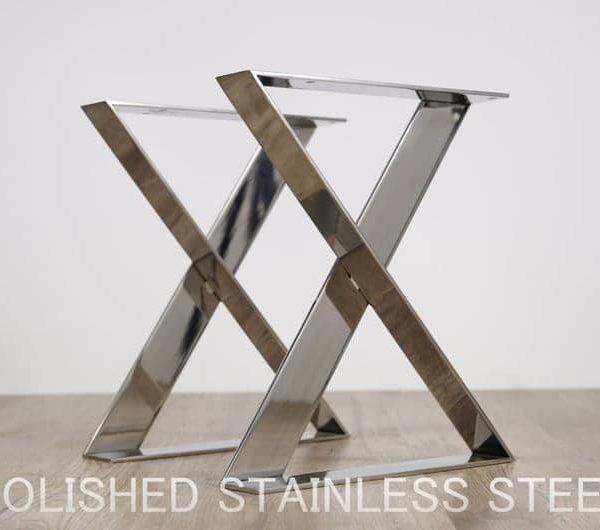 X-рамка из нержавеющей стали с плоским Bench ноги, на следующий день доставка, высота = 15,7 & Quot (40 см), ширина = 13,8 & Quot (35 см)