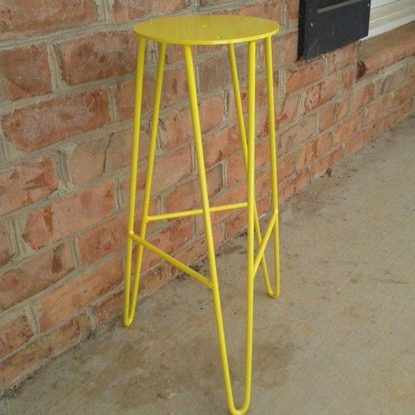 Yellow Steel Шпилька Барный стул Основа - DIY - Пользовательские Heights Доступные